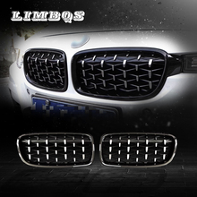 2 pcs front grille for f30 f31 f35 BMW 3 series dual slat kidney 320i 328i 335i exterior racing grills