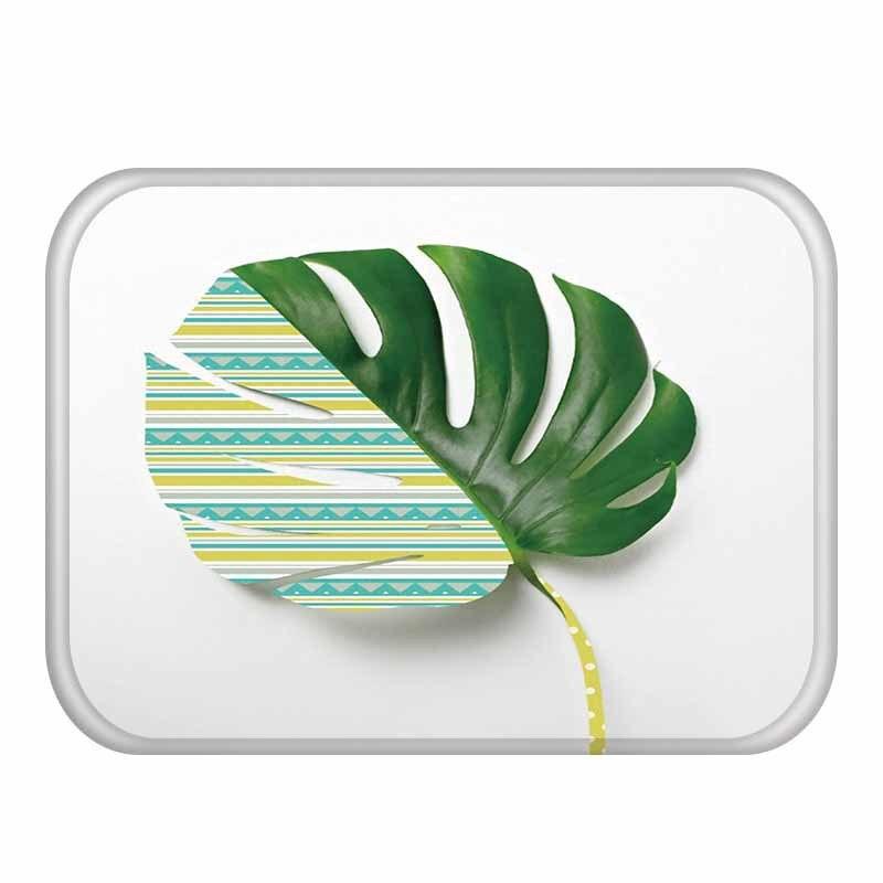 40 * 60cm Delicate Flower Pattern Rectangular Flannel Soft Carpet  Can Wash Entrance Floor Kitchen Floor, Bathroom Non slip Mat .Rug   -