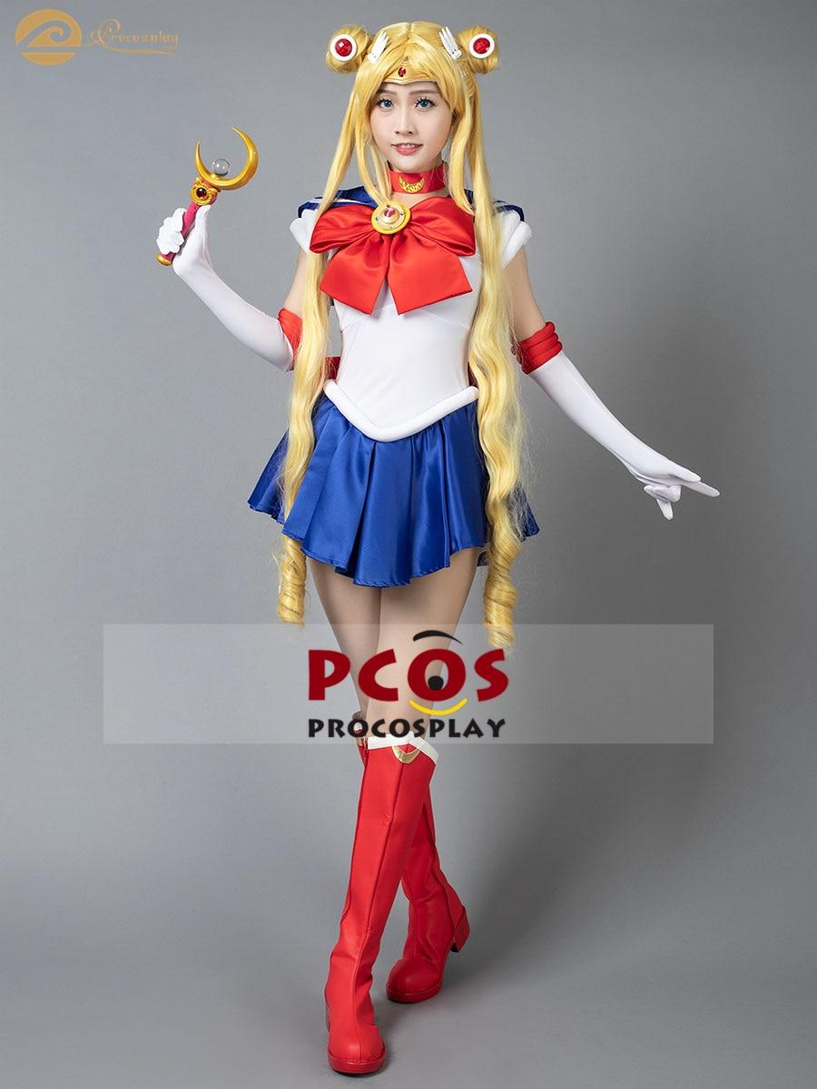 BEST Deal Ready 2 ship Sailor Moon Tsukino Usagi school Cosplay Costume mp002238