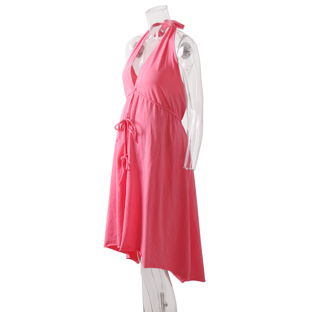 Women Maternity Dresses Cotton Casual Beach Pink Nursing Dress V neck Breastfeeding Abdominal Cardigan Belt Pregnant Clothes in Dresses from Mother Kids
