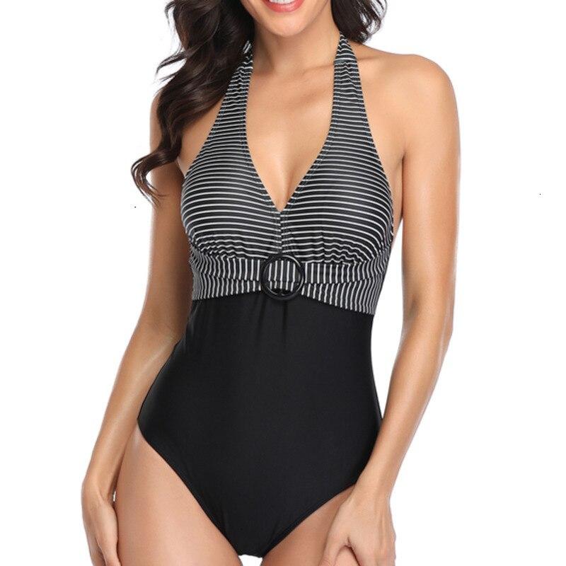 Sexy Black Slim Fit One-Piece Swimsuit Female Push Up Swimwear Body Suits Bathing Suit Women Swim Beach Ladies Swimming Suit