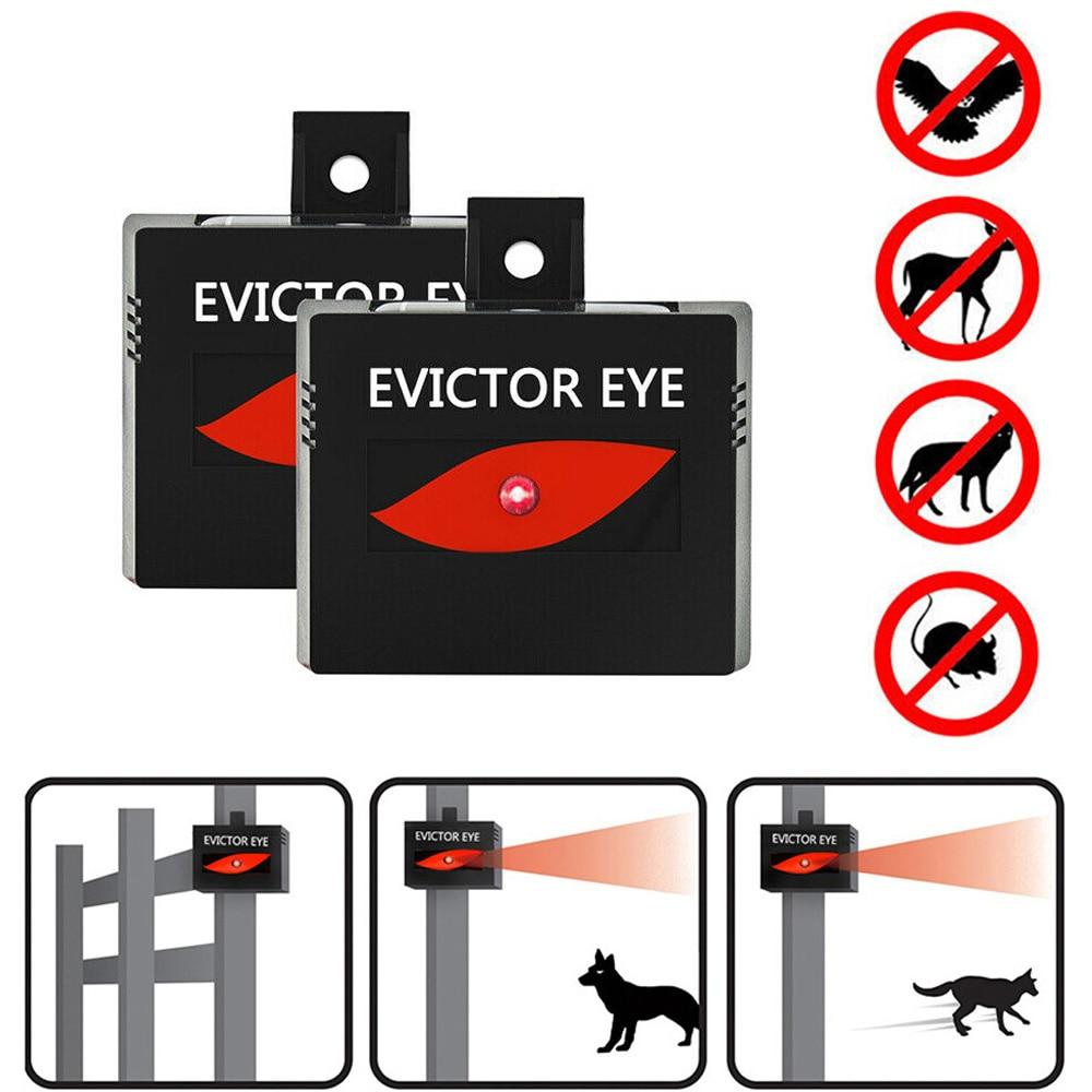 Solar Powered Outdoor Animal Repeller Motion Sensor Waterproof Pest Repeller Ultrasonic Anti Snake Cat Dog Bird Rat Mouse