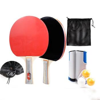 цена Table Tennis Training Set 2PCS Pingpong Paddle+3PCS Ball+Portable Retractable Table Tennis Net Home Table Tennis Racket Pingpong онлайн в 2017 году