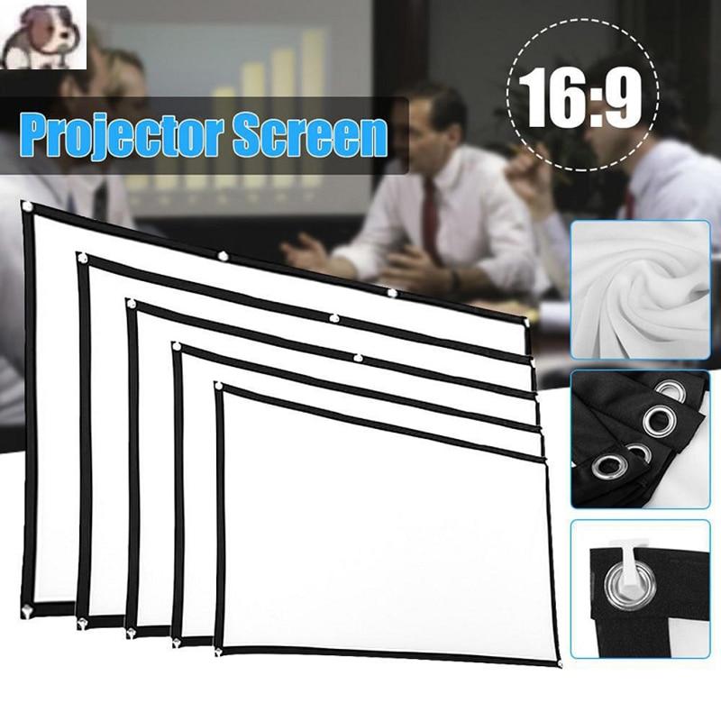 16:9 проектор экран ткань 100 120 дюймов проекционный экран портативный с отражающими свойствами для Xgimi H3 H2 YG400 для Xiaomi Бимер