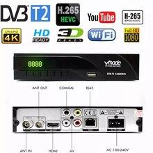 Vmade 2019 최신 DVB T / DVB T2 내장 RJ45 H.265/ HEVC HD 디지털 지상파 수신기 지원 Youtube M3U DVB TV Box