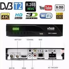 Vmade 2019 новейший DVB-T / DVB-T2 встроенный RJ45 H.265/ HEVC HD цифровой наземный приемник Поддержка Youtube M3U DVB TV Box,DVB T2 DVB T Встроенный сетевой ТВ-декодер 1000M