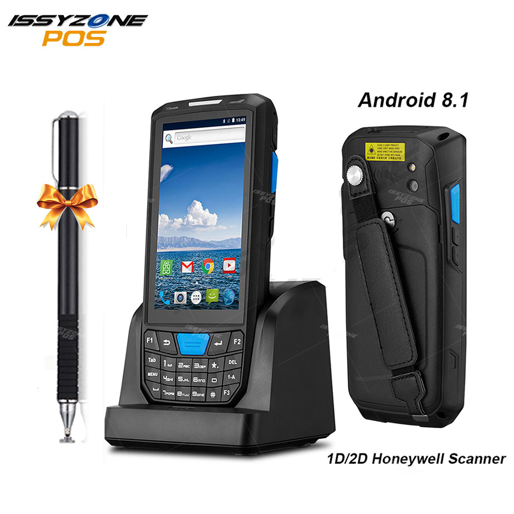 Issyzonepos Barcode Scanner Pos-Terminal-1d Wifi Bluetooth Handheld Android 2D 4G PDA
