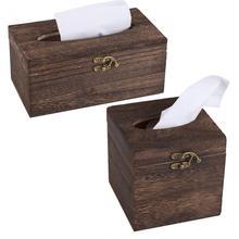 Деревянная коробка для салфетница в ретро-стиле, Подарочная коробка, деревянный держатель для салфеток