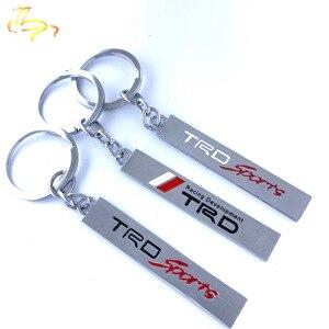 Kreatywny 3D metalowy brelok z Logo na samochód godło dla Toyota CROWN REIZ PRIUS PRADO TRD breloki