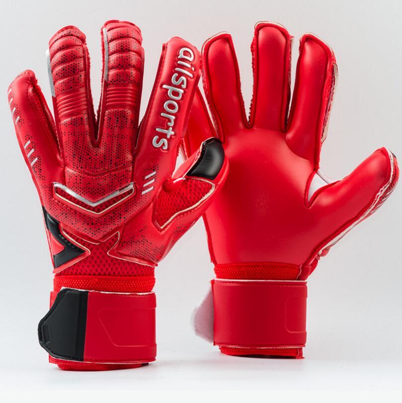 4MM Latex Goalkeeper Gloves Finger Protection Thickened Soccer Goalie Gloves Professional Football Goalkeeper Gloves 1