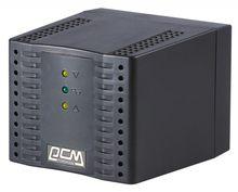 Стабилизатор напряжения powercom tca-1200 600вт 1200ва черный