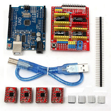 4 x A4988 Stepper Motor Driver With Heatsink + CNC Shield Expansion Board + R3 B