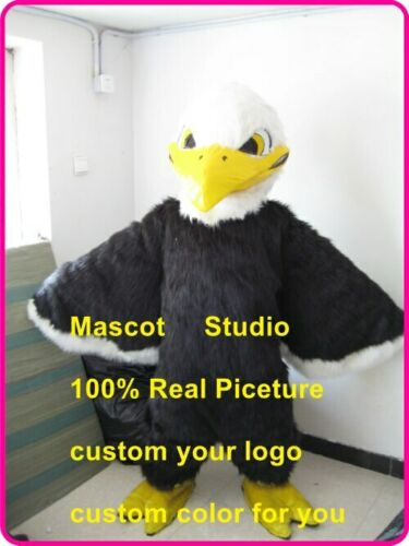 Halloween Black Eagle Mascot Hawk Falcon Costume Anime Cosplay Theme Fancy Dress Carnival Advertising Parade Character Adults