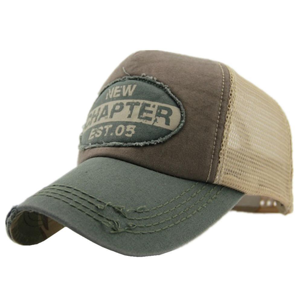 Connectyle Men's Vintage Fashion Adjustable Mesh Trucker Hat Outdoor Sport Summer Sun UV Protection Baseball Cap