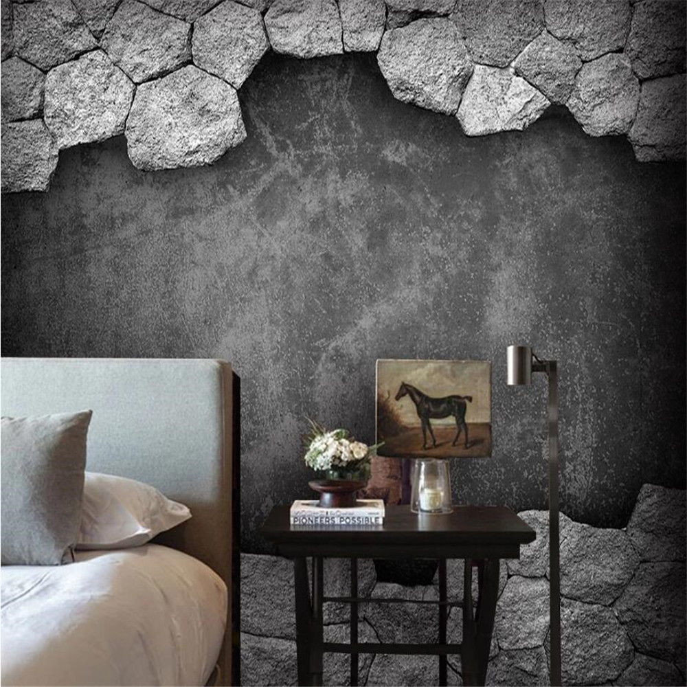 Milofi Custom 3d Wallpaper Mural Hole Culture Stone Background Wall Living Room Bedroom Decoration Wallpaper Wallpapers Aliexpress