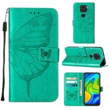 For Xiaomi Redmi Note 9 Case Silicon Cover PU Leather wallet card Slot flip case Protective On Redmi Note 9 Case Strap Bumper