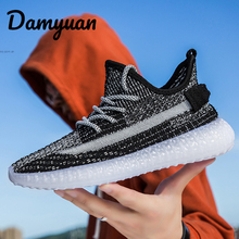 Damyuan 2019 New Fashion Men Shoes Casual Women Comfortables Non-leather Coconut Lighted Sneakers Handmade Sapato Masculino