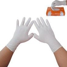 100 יח\אריזה בשתי ידות לבן חד פעמי Nitrile כפפות שמן הוכחה מגן כפפות לתעשיית מזון תהליך