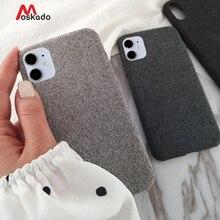 Moskado pluszowe tkaniny etui na telefony dla Apple iPhone 11 12pro X XS Max XR 8 7 6s Plus SE 2020 11 ciepłe moda miękka tylna okładka
