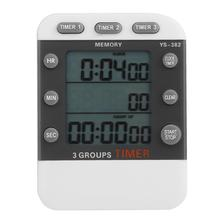 New Three-Channel Timer Experiment Countdown Stopwatch Clock Kitchen Ti