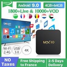 MX10 IPTV France Box Android 9.0 RK3328 4GB 64GB 1 Year QHDTV IPTV Subscription Belgium Netherlands Arabic French IPTV Box mx10 arabic france iptv subscription 4 64g android 9 0 rk3328 qhdtv 1 year iptv netherlands belgium italian algeria ip tv box