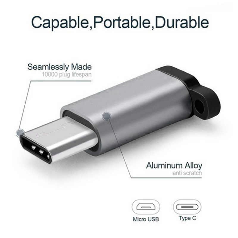 Micro USBประเภทCสายโลหะผสมADAPTER ConverterสำหรับAndroidสายชาร์จโทรศัพท์มือถือสายชาร์จUSBสายเคเบิลอะแดปเตอร์TSLM1