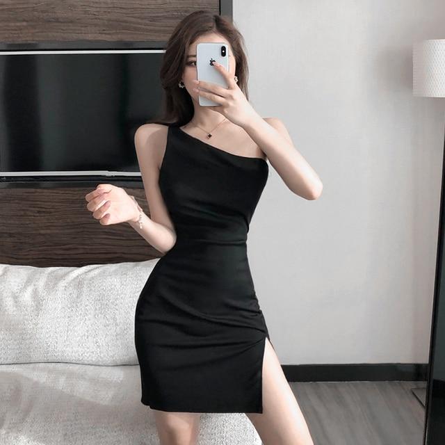 single shoulder night-out dress 2