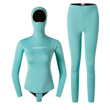 Yamamoto wetsuit top and pants 2mm girl free diving scuba diving