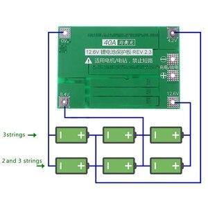 Image 5 - 小売3s 40A 18650リチウムイオンリチウム電池充電器保護ボードpcb bmsドリルモータ11.1v 12.6vリポ電池モジュール