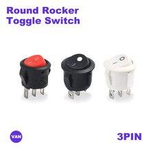 1pc darmowa wysyłka 2/3Pin na/OFF okrągły kołyskowy przełącznik dwupozycyjny 6A/250VAC 10A 125VAC wyłącznik zasilania czapka z plastikowy przełącznik