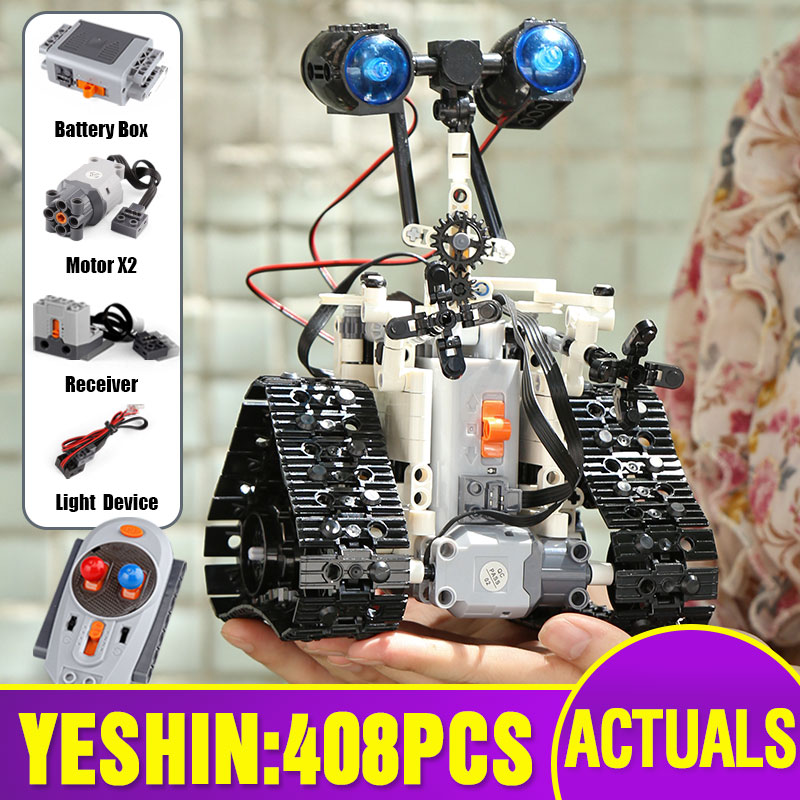 Yeshin 16003 Technic Remote Control RC Bulldozer Electric designer Building Blocks Compatible with 21303 Engineering toys