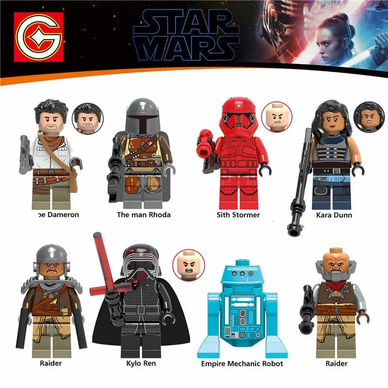 Star Wars Yoda Darth Vader Luke Leia Anakin Obiwan Han Solo Rey Jar Jar Star Wars Set Building Blocks Figure giocattoli per I Bambini
