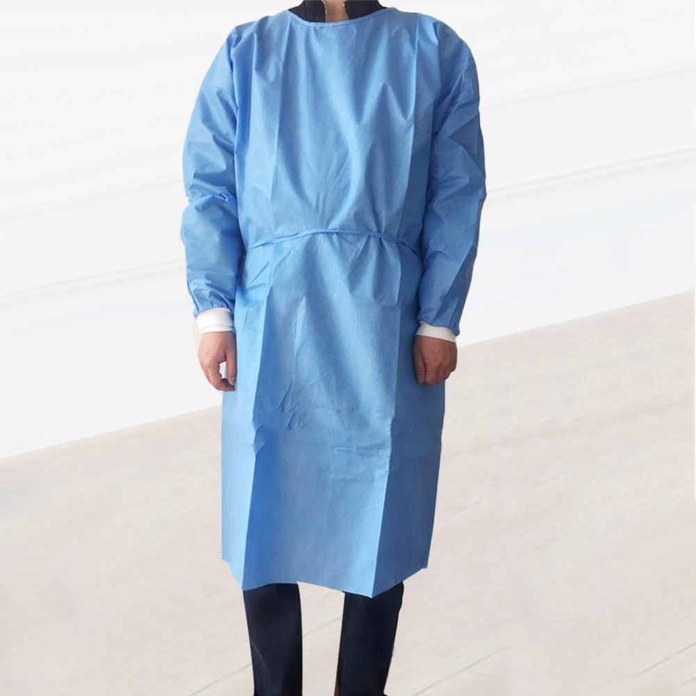 Unisex Disposable Protective Coverall Non Woven Drawstring Isolation Breathable Protection Suit Hazmat Suit рабочая одежда 2