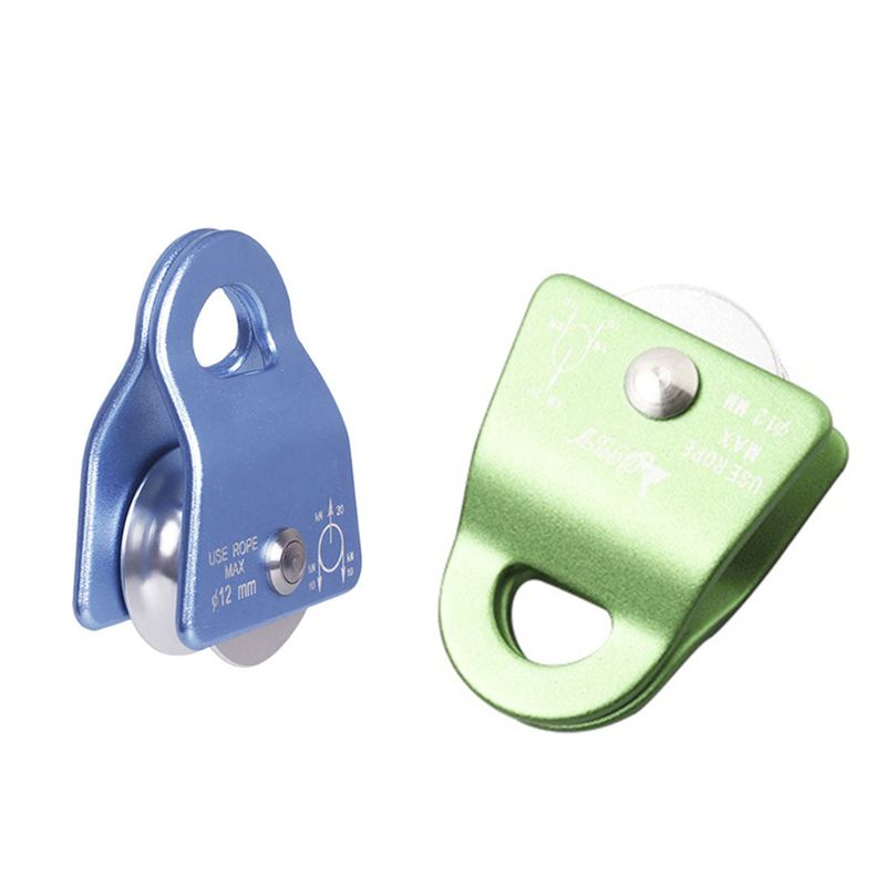 2000kg Flexible Active Pulley Block 360 Degree Wwivel Pulley For Rock Climbing