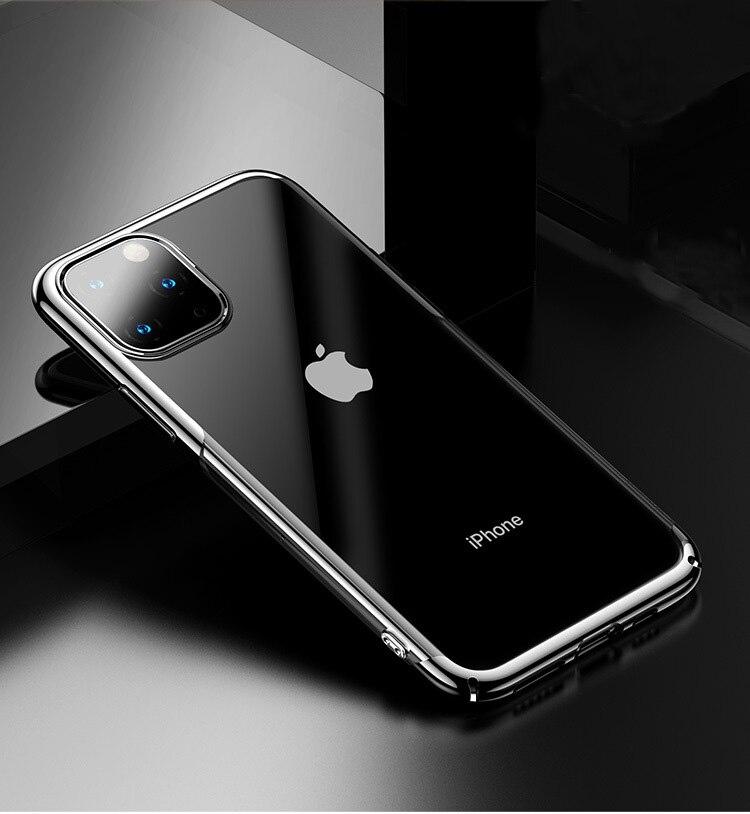 Clear Case For Iphone 11 Pro Max XS XR X XS MAX 7 8 6 6S Plus 8Plus 5S SE 11 Pro Transparent Soft TPU Slim Phone Case Back Cover