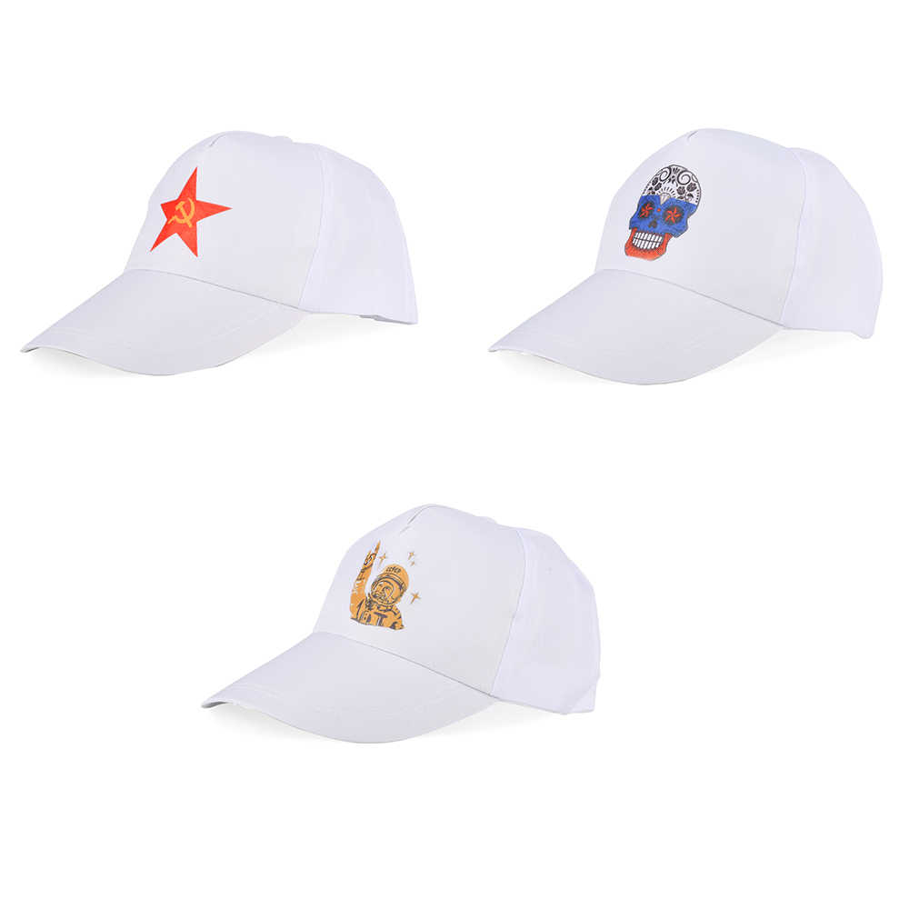 White Printing Baseball Caps Casual Cotton Polyester Sport Snapback for Women Men Adjustable Strap Type Gorras Para Hombre