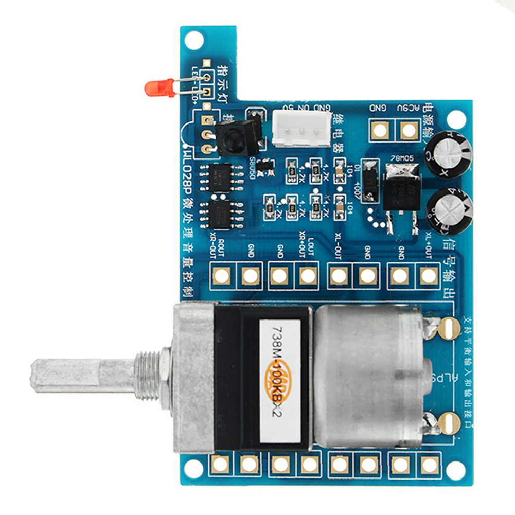 DC 9V Modules Volume Control Board With Indicator Light Motor Remote Control Infrared Durable Electric Potentiometer Tools