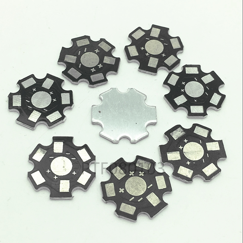 50pcs High Power <font><b>1w</b></font> /3w /5w Watt <font><b>LED</b></font> Heat Sink Aluminum Base Plate 20 mm <font><b>LED</b></font> board KIT DIY high quality star <font><b>heatsink</b></font> image