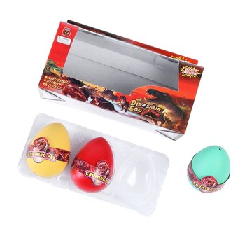 HOT OCDAY 3Pcs Dinosaur Eggs Magic Water Hatching Growing Colorful Dinosaur Add Cracks Grow Eggs Learning Educational Funny image