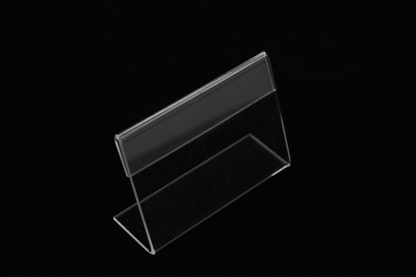 6pcs Acrylic T 1.5mm Clear Plastic Desk Sign Label Frame Price Tag Display Paper Card Holders Acrylic Label Holder Stand Frame