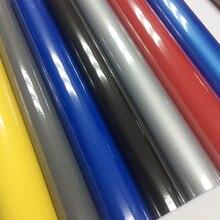 50 см * 200/300 см/500 см 5D черная, красная, серебристая, синяя виниловая пленка из углеродного волокна автомобильная пленка рулон листа пленка авт...