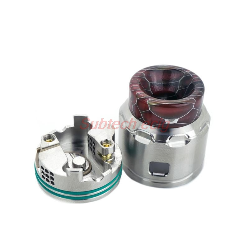 New C4 LP BF RDA Tank With 24mm Diameter Postless Ultra Low Profile Design Unique Two-Post Build Deck Domed Top Cap