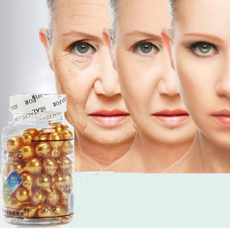 90pcs/bottle Vitamin E Extract Capsules Anti-wrinkle  Whitening Cream Ve Serum Facial Freckle Capsule