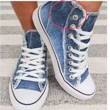 Women Denim Canvas Shoes 2020 Retro Female Breathable Sport