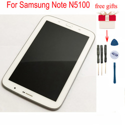 For Samsung Note N5100 LCD Display Touch Screen Digitizer Assembly with Frame for Samsung Galaxy GT-N5100 3G
