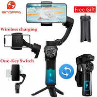 Snoppa Atom Foldable Pocket Sized 3 axis Smartphone Handheld Gimbal Stabilizer for GoPro Smartphones, Wireless Charging
