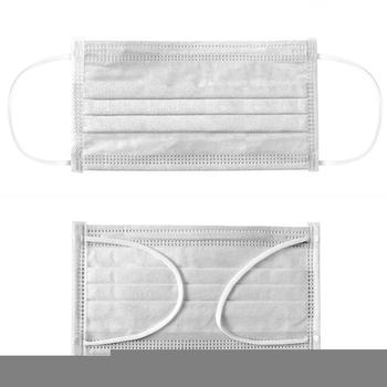 2020 Non-Woven Mouth Masks Fabric Disposable  White Anti Haze Anti-Dust Mouth Masks 50pcs hot sell