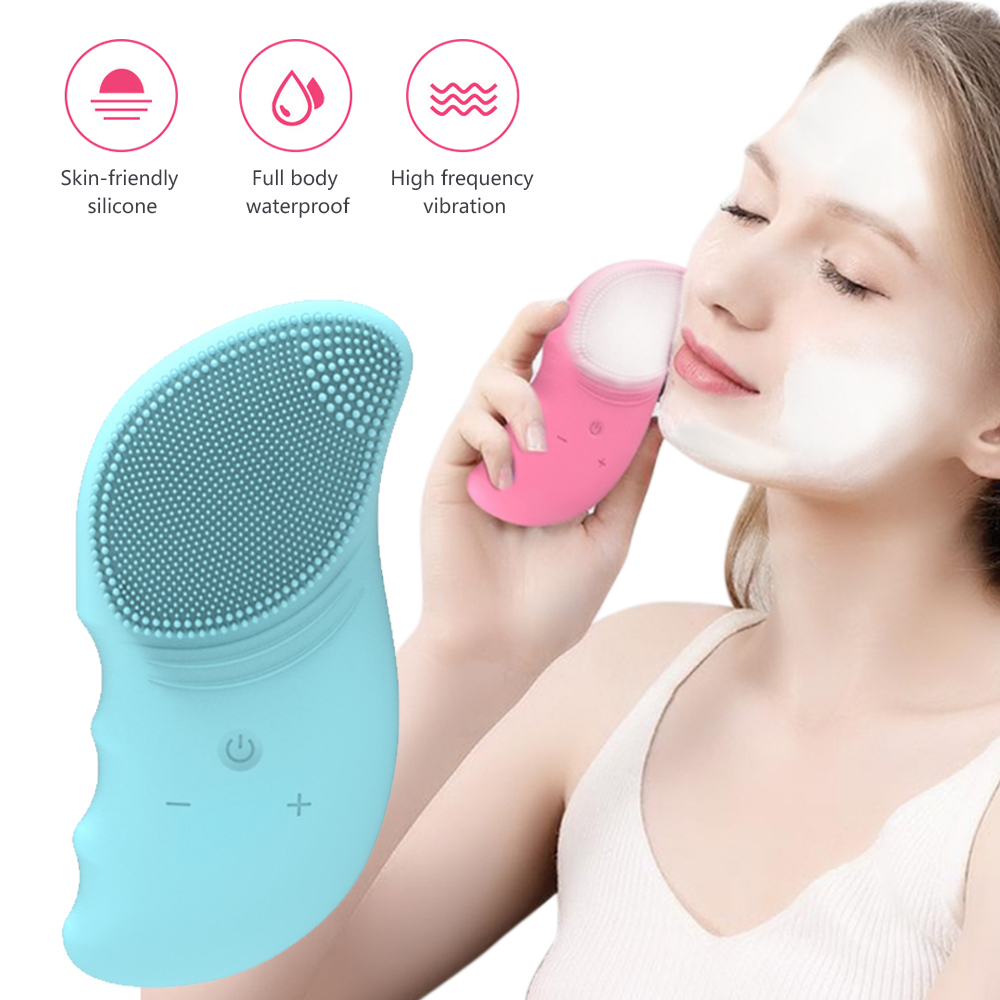 Face Cleansing Brush Electric Vibrator Facial Brush Deep Washing Pore And Blackhead Deep Cleaning Brush Tools