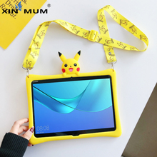 Cover For Huawei MediaPad M3 Lite 10 BAH-W09 BAH-AL00 Cartoon Kids Case For Media Pad M3 lite 10.1'' Silicon Funda + strap 2pack tempered glass screen protector for 10 1 huawei mediapad m3 lite 10 bah w09 bah al00 protect screen film