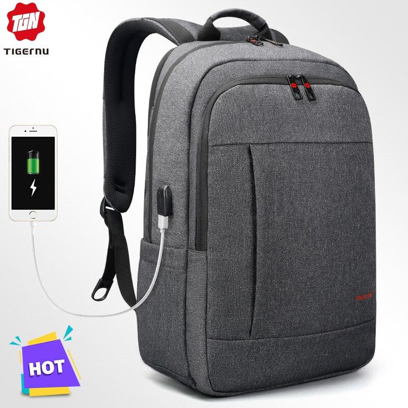 Tigernu Anti voleur USB sac à dos 15.6 à 17 pouces sac à dos pour ordinateur portable pour femmes hommes sac d'école femme mâle